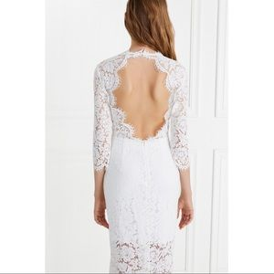 Rachel Zoe lace long sleeve wedding dress